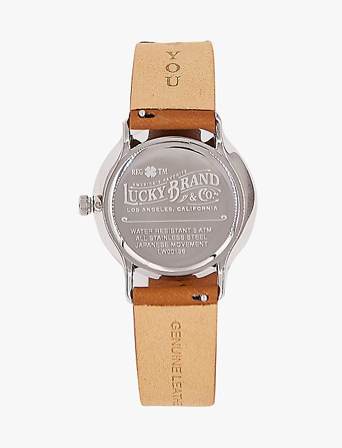 Lucky Ventana Tan Leather Watch, 34mm