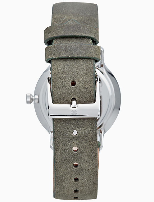 VENTANA OLIVE LEATHER WATCH, 34MM,