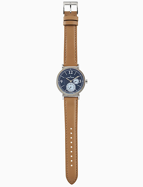 CARMEL BOYFRIEND TAN LEATHER WATCH, 38MM,