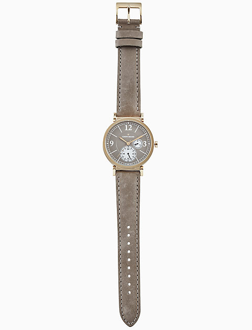 Lucky Carmel Boyfriend Taupe Leather Watch, 38mm