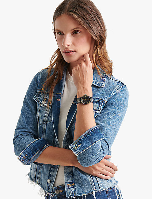 Lucky Torrey Embroidered Leather Watch