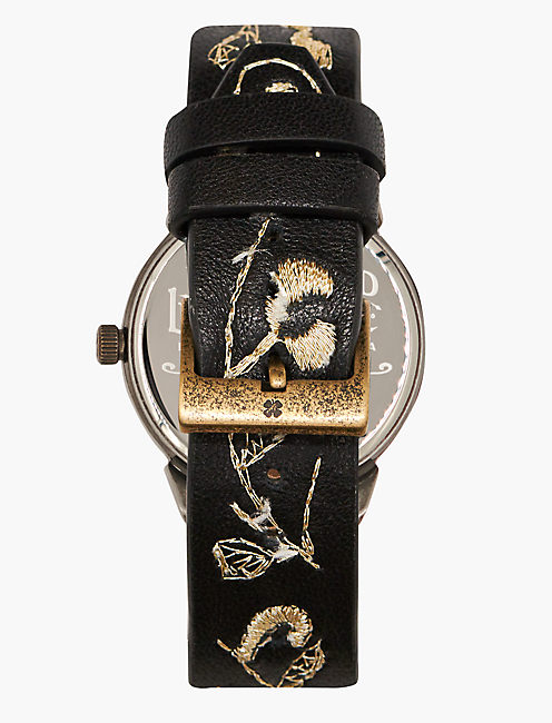 Torrey Embroidered Leather Watch,