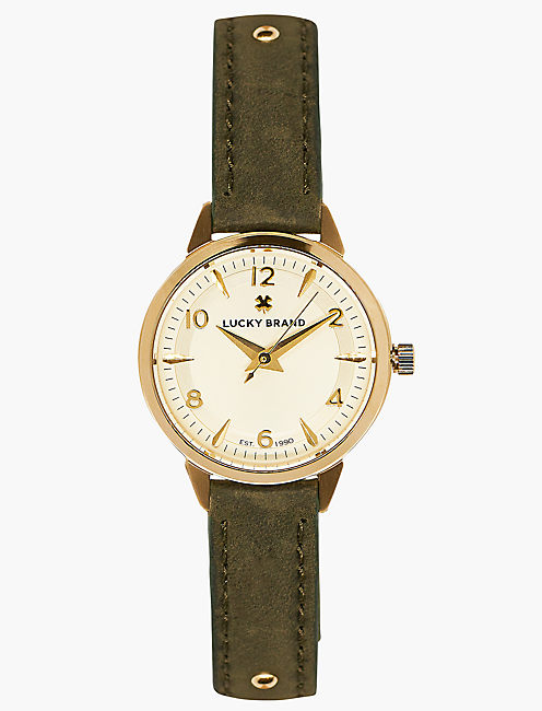 Torrey Olive with Gold Studs Watch,