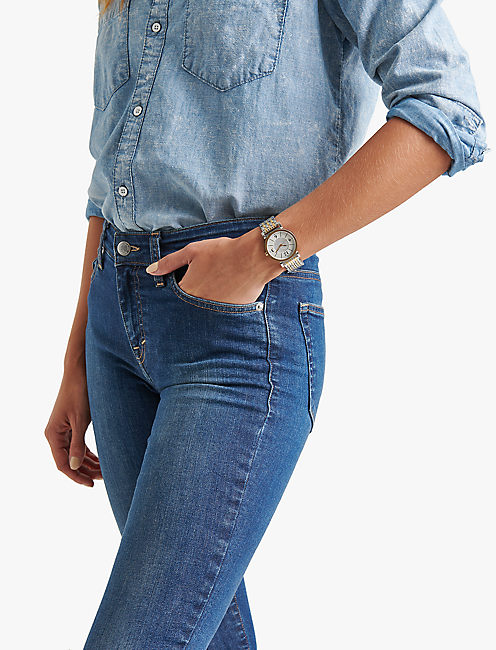 Carmel White Glitz Watch,