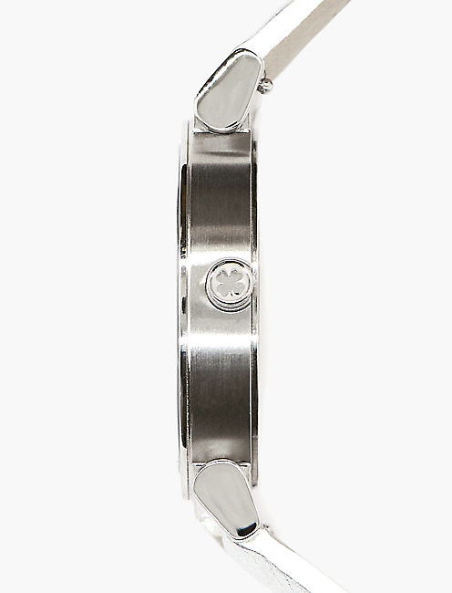 Carmel Metallic Leather Watch,