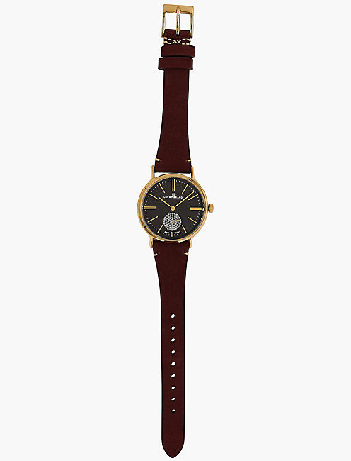 Ventana Berry Leather Watch,