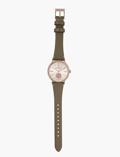 Ventana Light Grey Leather Watch,
