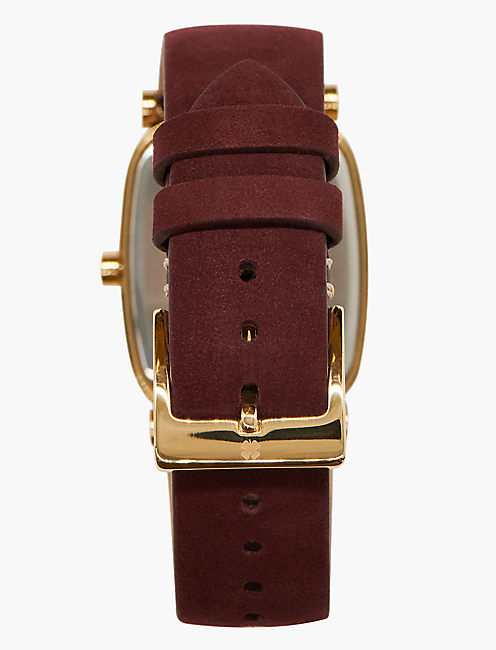 Laurel Berry Leather Watch,