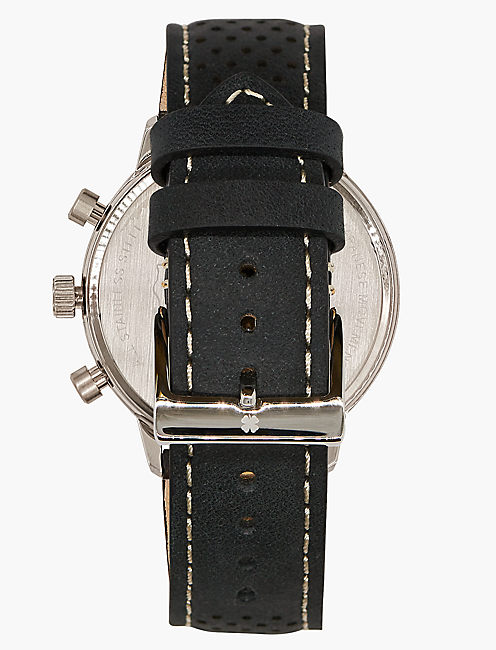 Fairfax Black Perforated Watch,