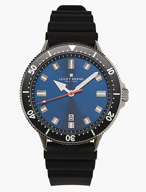 Dillon Black Silicone Watch,