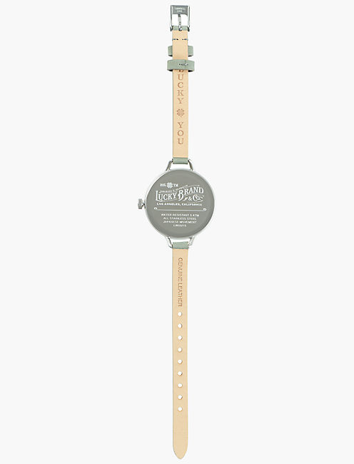 INDIO STERLING SILVER SUEDE WATCH, 36mm, SILVER