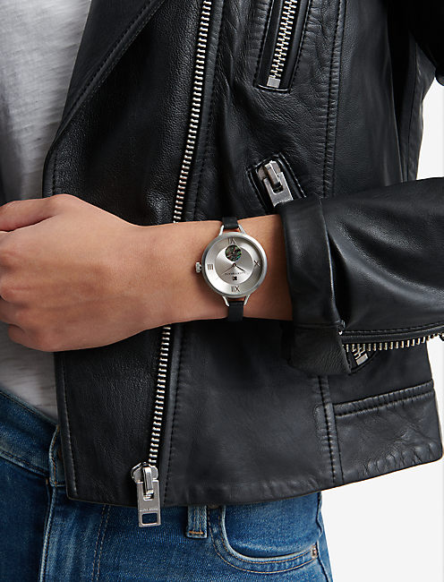 Indio Subeye Black Leather Watch