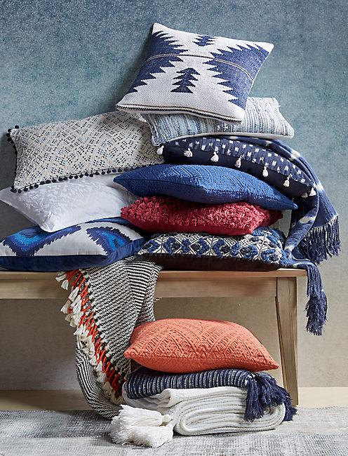 Lucky 16x24 Woven Tassel Pillow