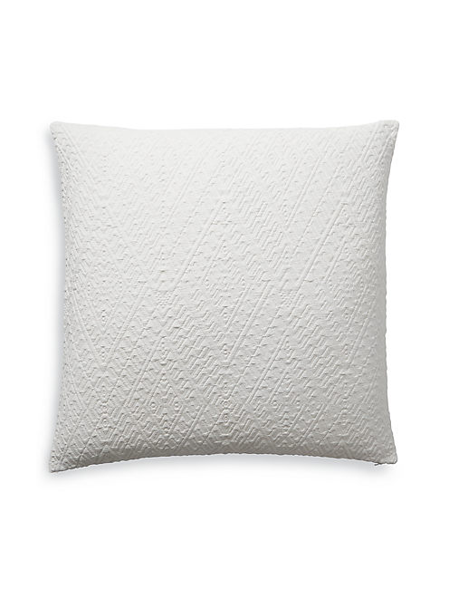 18X18 DIAMOND MATELASSE PILLOW, NATURAL