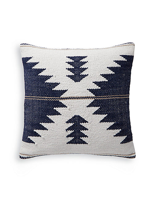 18X18 KILIM DECORATIVE PILLOW, BLUE MULTI