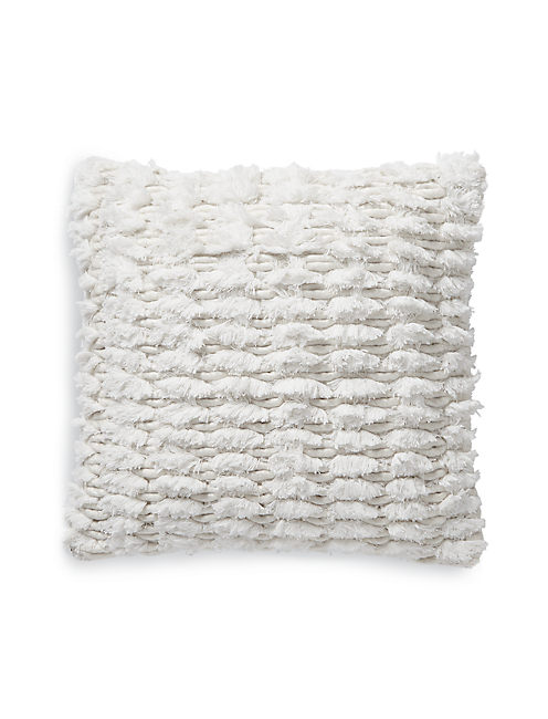 18X18 SHAGGY DECORATIVE PILLOW, NATURAL