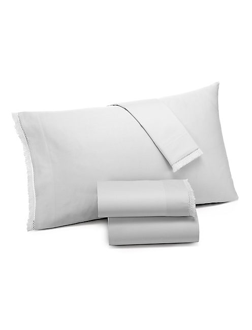 FRINGE GREY KING PILLOWCASE SET,