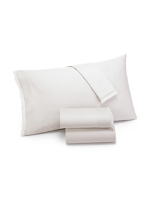 FRINGE IVORY KING PILLOWCASE SET,
