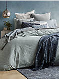 MEDALLION GREY FULL/QUEEN COVERLET,