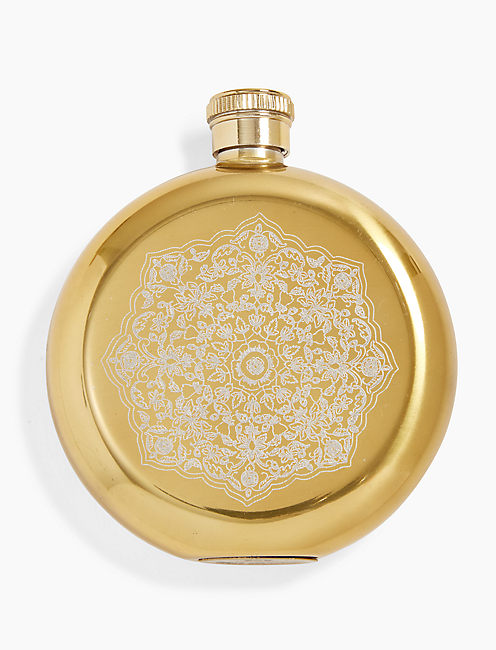 Lucky Metal Print Flask