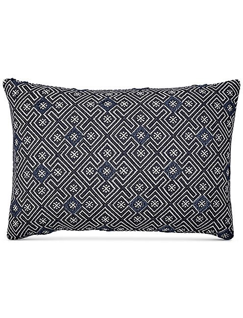 16X24 TUFTING DECORATIVE BLUE PILLOW, RINSE