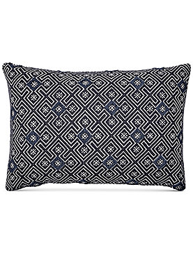 16X24 TUFTING DECORATIVE BLUE PILLOW