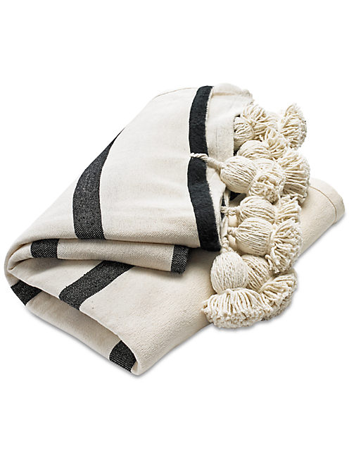MOROCCAN POM THROW,