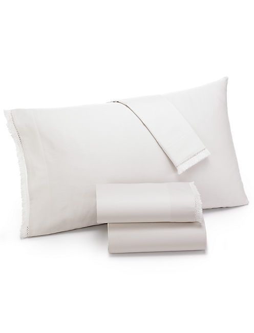 FRINGE IVORY CAL KING SHEET SET, OPEN WHITE/NATURAL