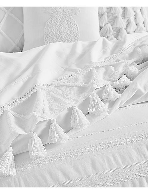 Stripe Embroidered Comforter Set