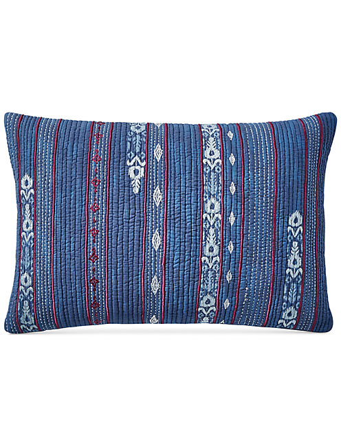 14X22 KANTHA STRIPE DECORATIVE PILLOW,
