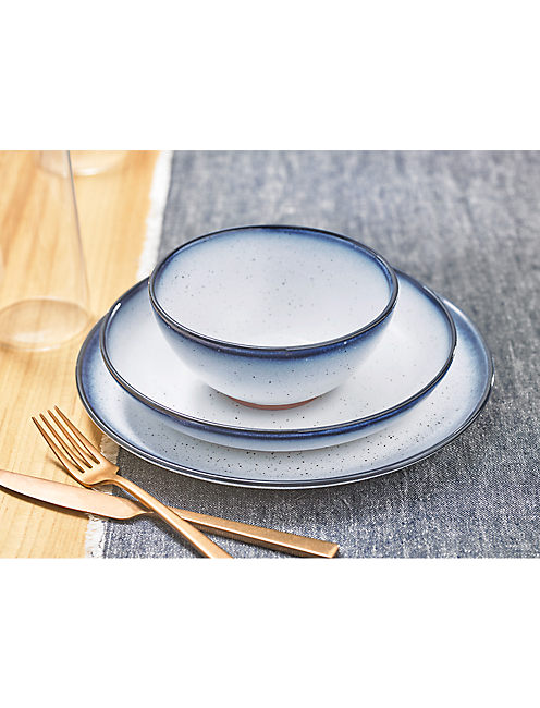 BLUE EDGE 12 PIECE DINNER SET,