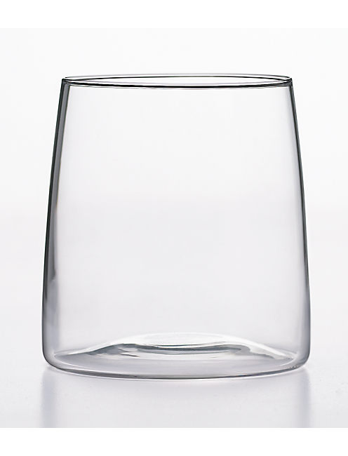 SET OF FOUR CLEAR GLASSES,
