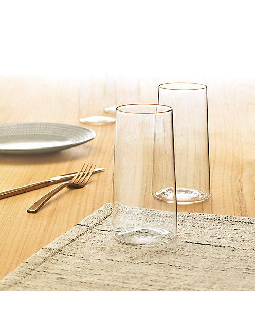 Lucky Set Of 4 Highball Clear Glasses