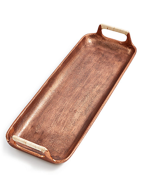 SMALL COPPER SERVING TRAY,