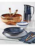 20 PIECE RUMBLE FINISH COPPER DINNER SET,