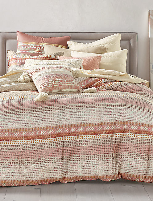 Wood Block Stripe Duvet Set