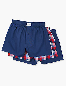 3 PACK WOVEN BOXER BRIEF
