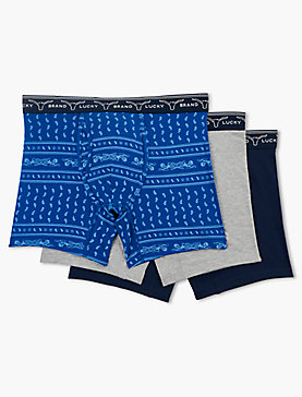 VICE PAISLEY MULTI 3 PACK BOXERS