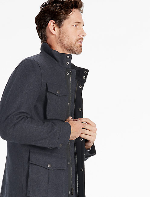 WOOL 4 POCKET UTILITY JACKET,