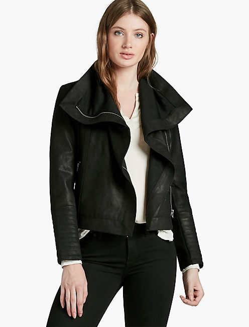 LEATHER MIX JACKET,