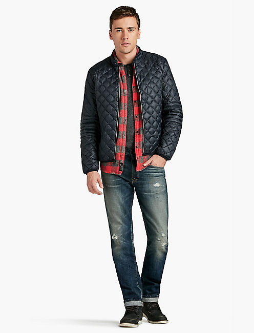 QUILTED RACE JACKET,