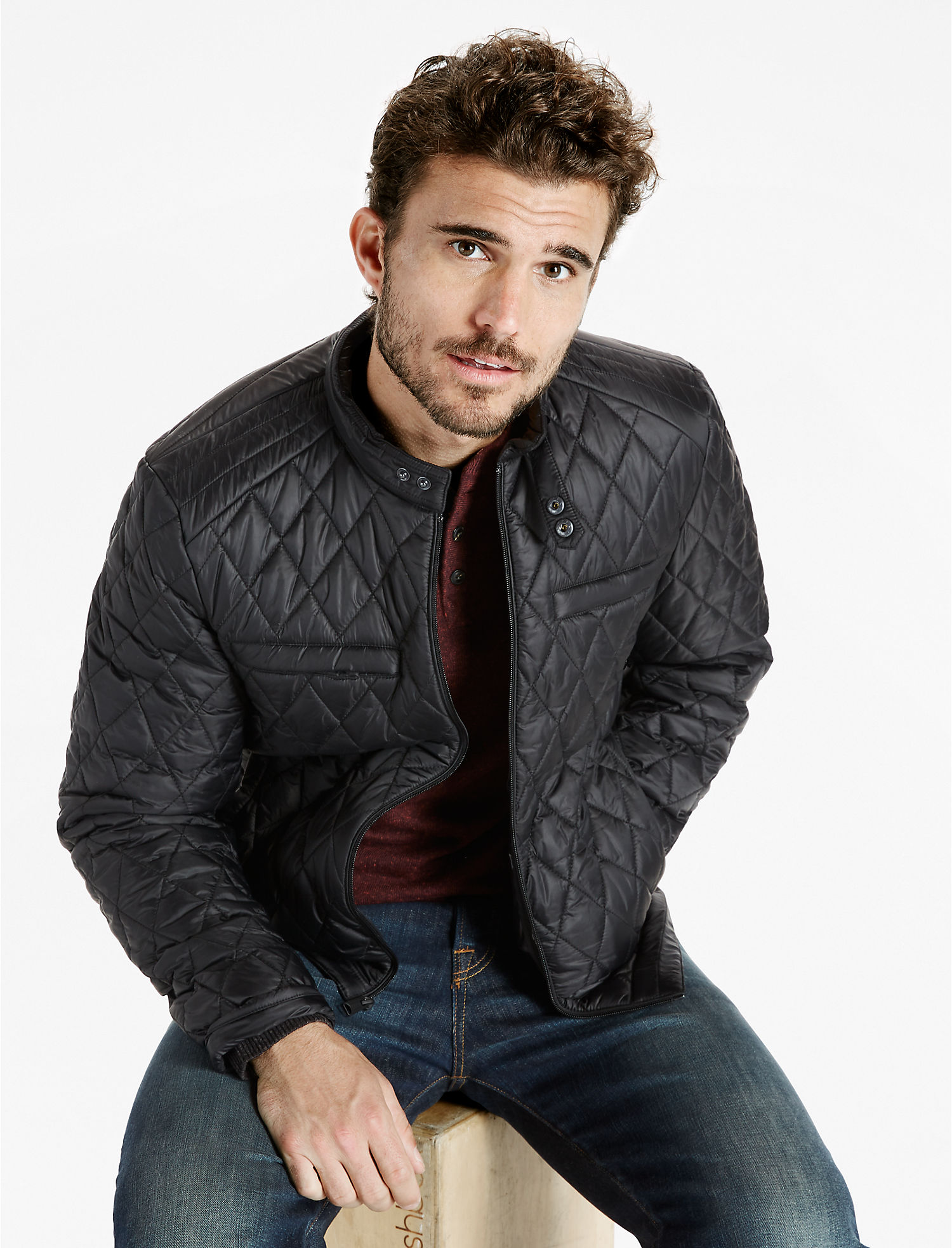 Nylon Cafe Racer Jacket