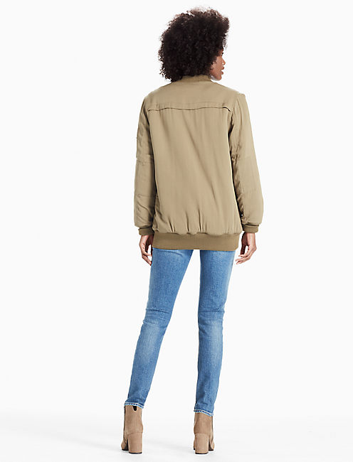 SHERPA LINED BOMBER, #3256 OLIVE