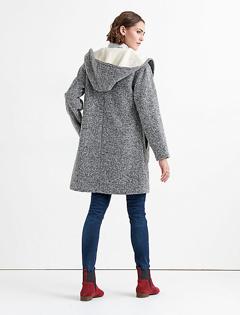 HOODED WOOL JACKET,