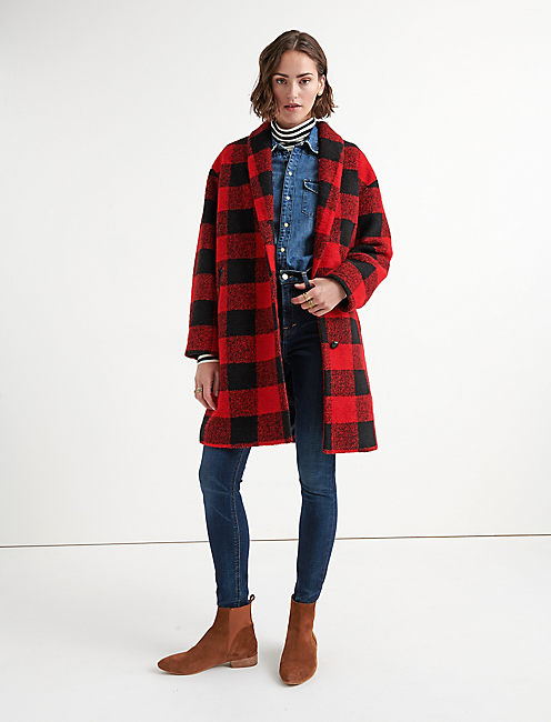 Lucky Buffalo Check Coat