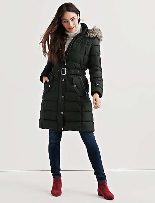 LONG PUFFER COAT, ARMY BRAT