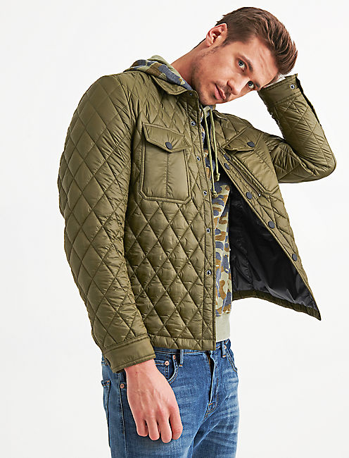 DIAMOND QUILTED SHIRT JACKET,