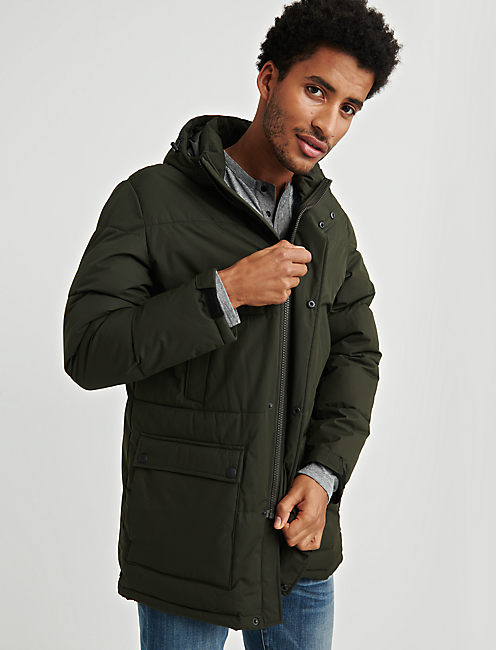 HOODED PUFFER JACKET,
