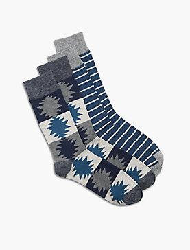 2 Pack Aztec Sock