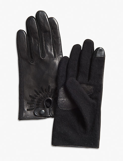 MOTO LEATHER GLOVE, BLACK